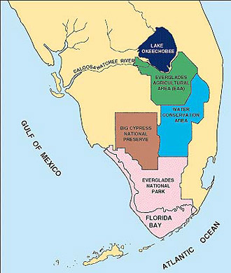 Map of Florida Bay and the Everglades. Image courtesy U.S. Geological Survey