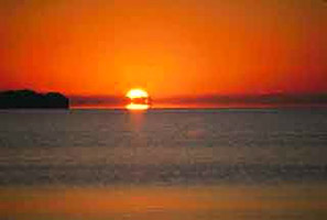 Sun setting over Florida Bay. Photo courtesy South Florida Water Management District