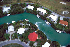 Man-made canal in Marathon Key. Photo courtesy South Florida Water Management District