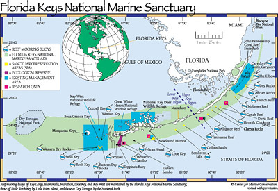 Map of Florida Keys National Marine Sanctuary