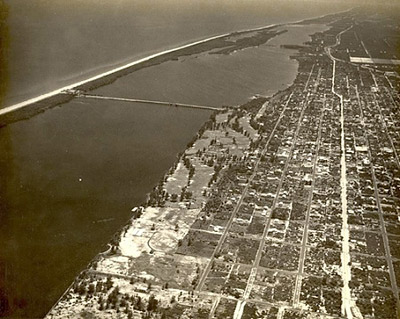 An aerial view of Lake Worth Lagoon. Photo © Historical Society of Palm Beach County