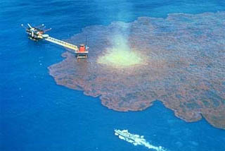 Exploratory Well Oil Spill courtesy NOAA