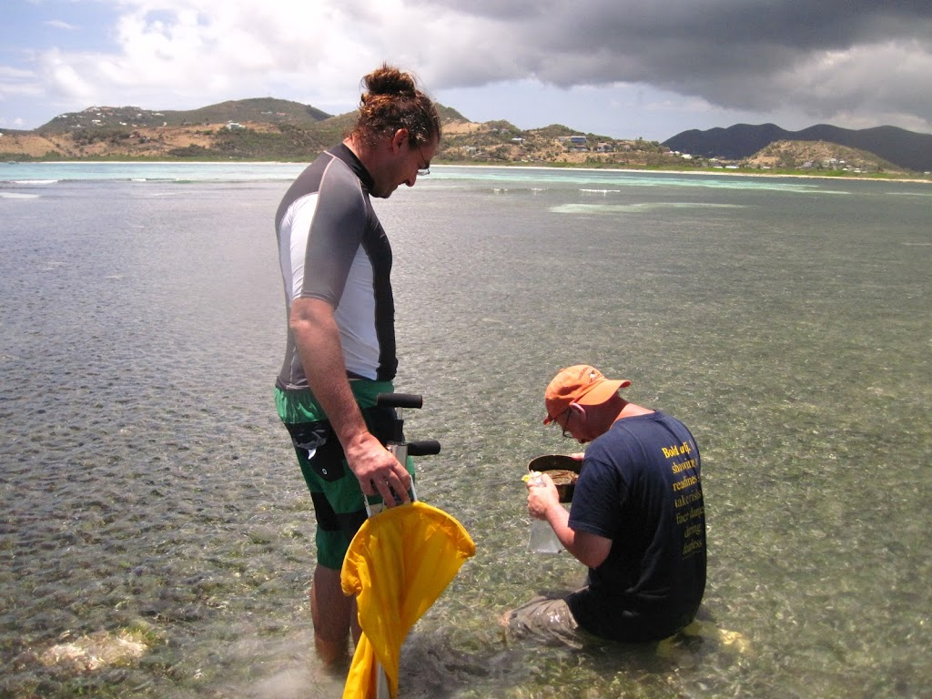 Art and Jean-Philippe collecting samples