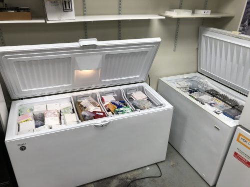 Showing how full the freezers are