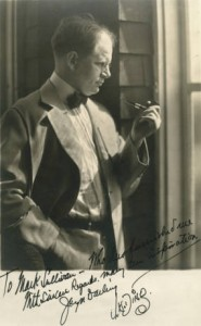 Autographed portrait of Darling with his pipe. Beloit College Archives.