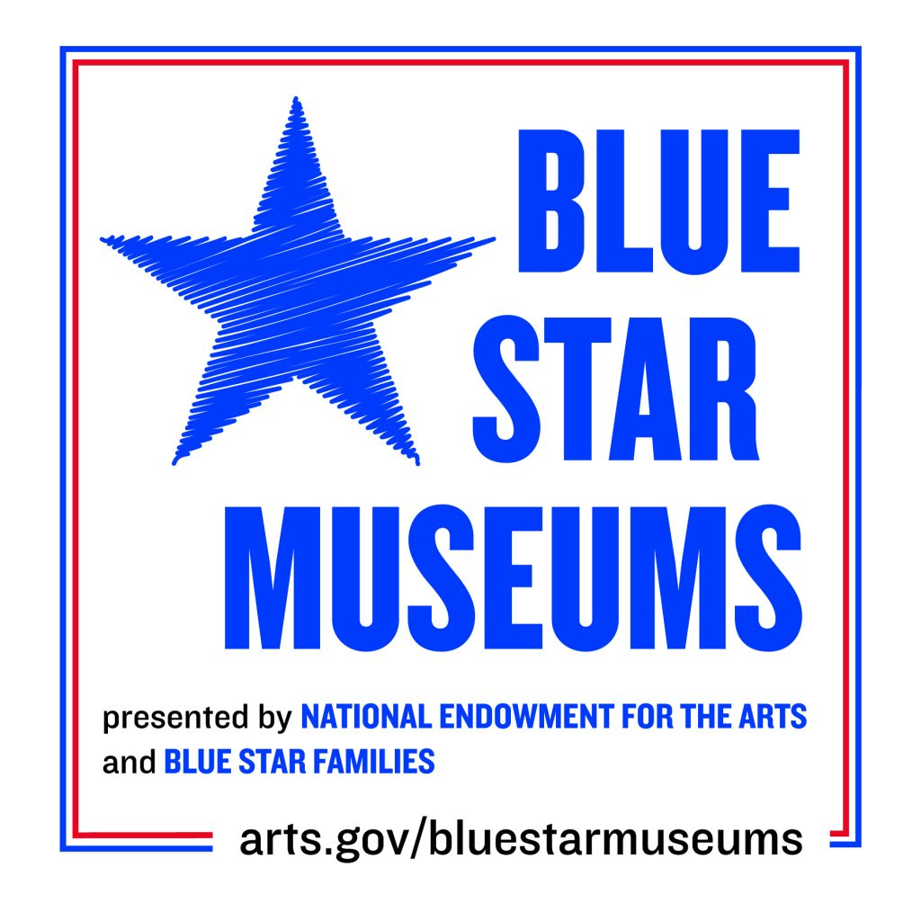 Logo with a blue star