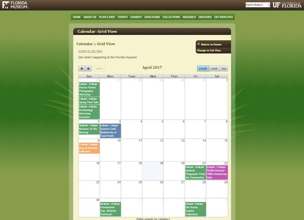 calendar in older design