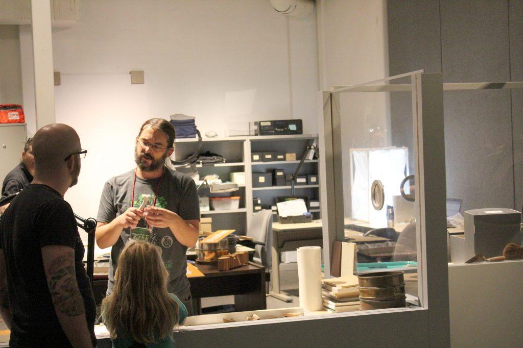 Visitors in exhibit lab