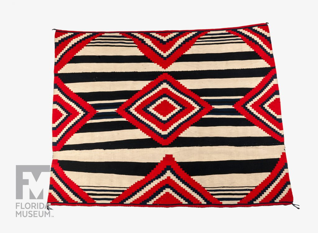 red, black and white blanket