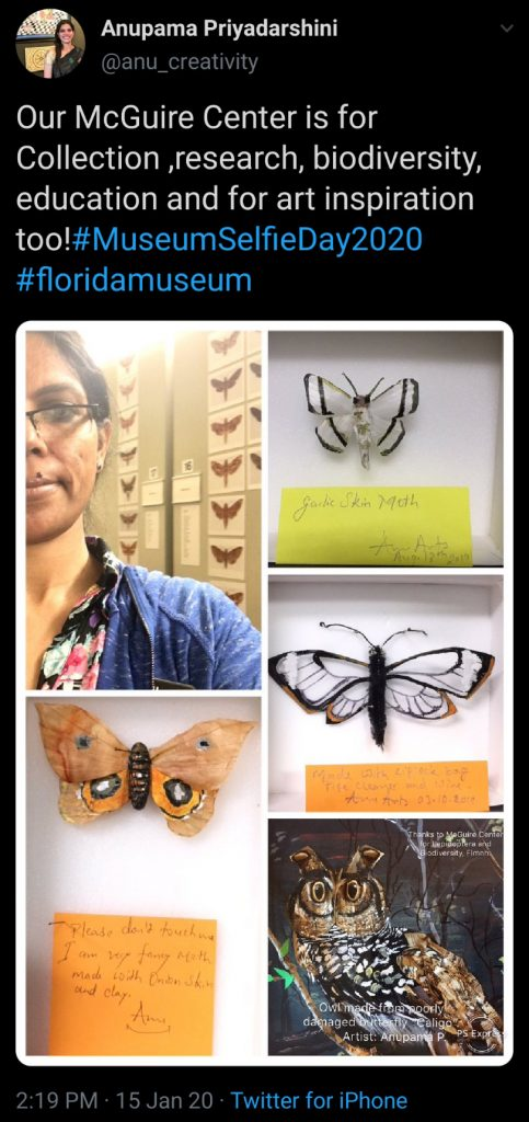 colage of images with butterflies and selfie