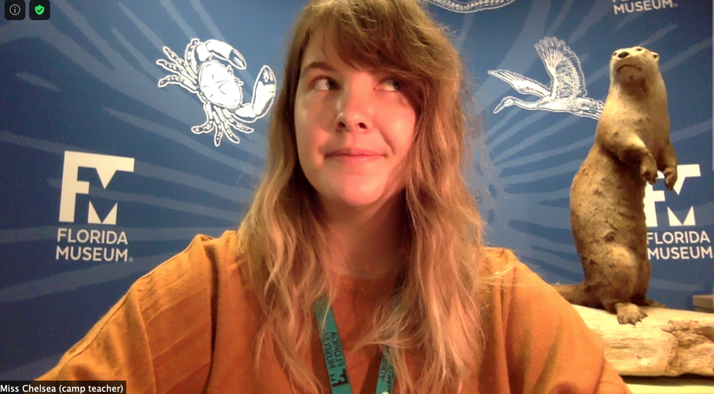 person making a face in a virtual learning setting