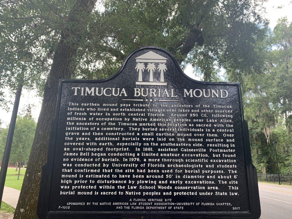 Alachua burial mound at law school