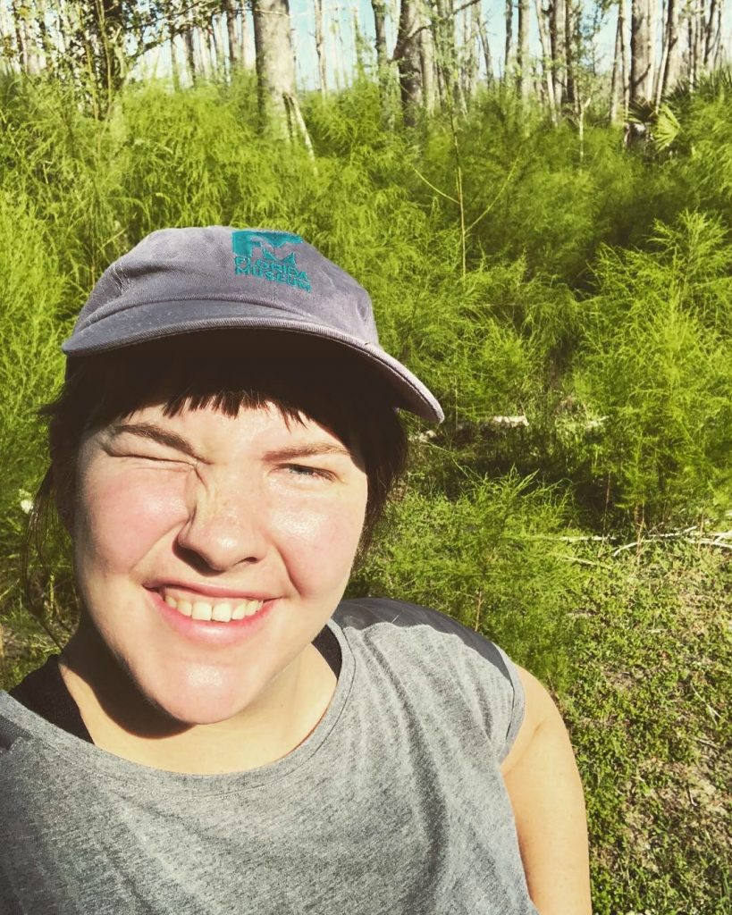 selfie in nature