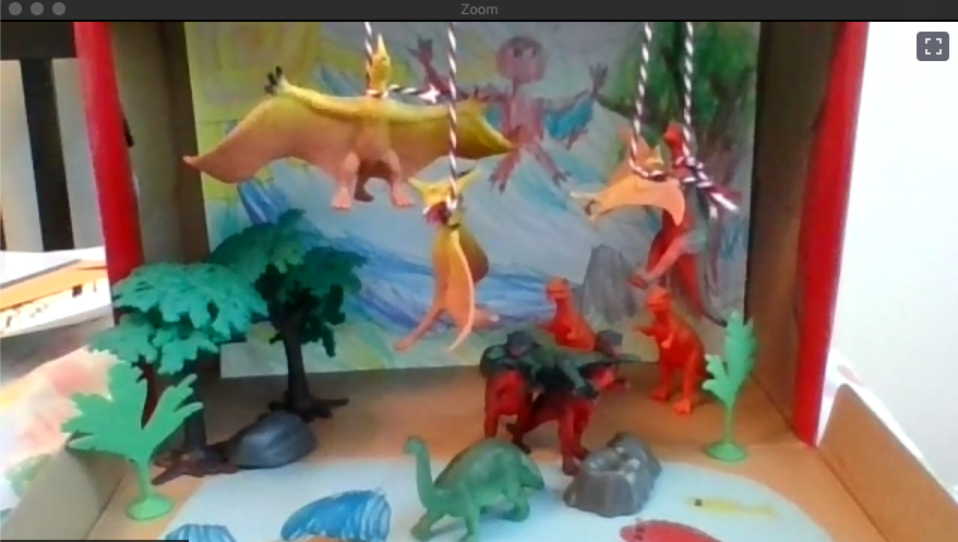 shoebox diorama created by campers