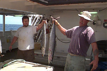 A successful day fishing for wahoo. Photo courtesy NOAA