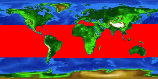 World distribution map for the wahoo