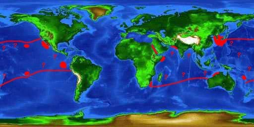 World distribution map for the pelagic thresher