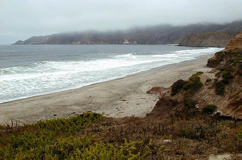 Beach near Point Conception, California. Photo courtesy U.S. Geological Survey
