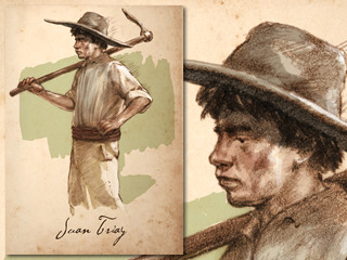 Artist's rendering of Juan Triay