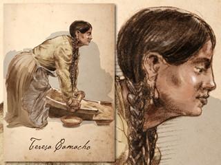 Artist's rendering of Teresa Camacho