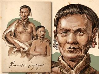 Artist's rendering of Francisco Jospogue