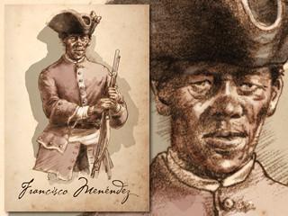 Artist's rendering of Francisco Menendez