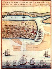 Map of Oglethorpe's siege of St. Augustine