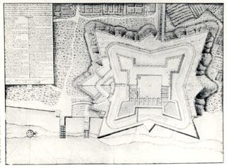Plan of the Castillo de San Marcos