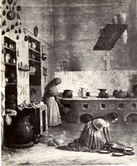 Kitchen scene—Mexico