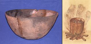 St. Johns pottery vessel, John White pot drawing