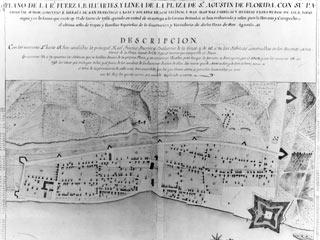 Elixio de la Puente's map of St. Augustine