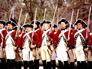 British soldiers of the Revolutionary War period