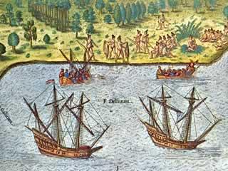 The Timucua encounter Europeans arriving in Florida