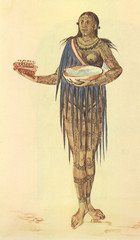 """""""A Woman of Florida"""" drawing by John White"""