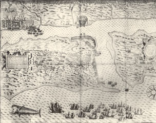 Map of St. Augustine in 1586