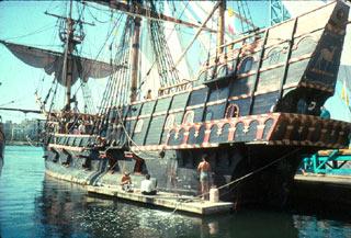 Replica of Francis Drake's ship
