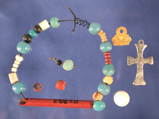 Trade items recovered from the site of the Nombre de Dios mission