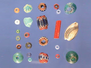 Beads from Menéndez campsite