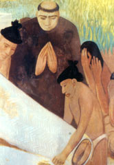 Mural painting of a funeral by Hollis Holbrook