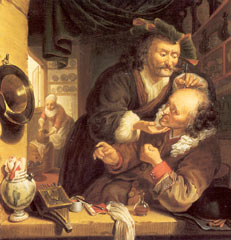 """The Barber-Surgeon"" by Isaac Koedyck"