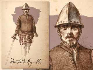 Artist's rendering of Martin de Arguelles