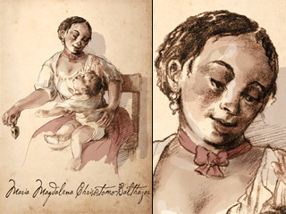 Artist's rendering of Maria Magdalena Chrisistomo-Balthazar