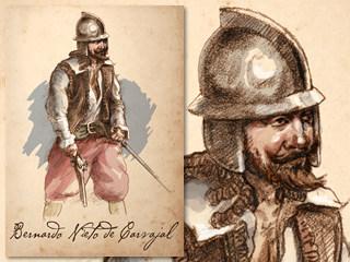 Artist's rendering of Bernardo Nieto de Carvajal