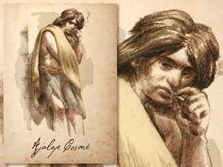 Artist's rendering of Ajalap Cosme