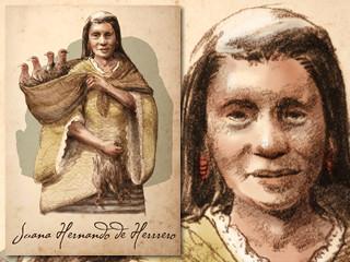 Artist's rendering of Juana de Herrero