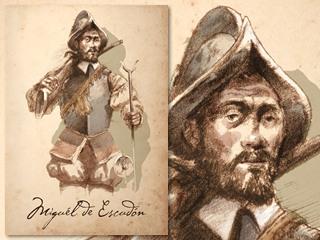 Artist's rendering of Miguél de Escudón