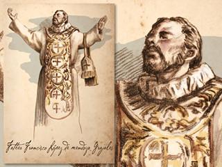 Artist's rendering of Father Francisco Lopez de Mendoza Grajales