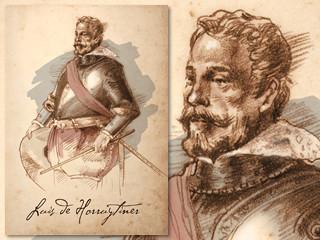 Artist's rendering of Luis de Horruytiner