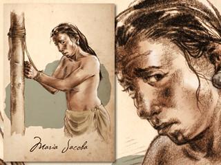 Artist's rendering of Maria Jacoba