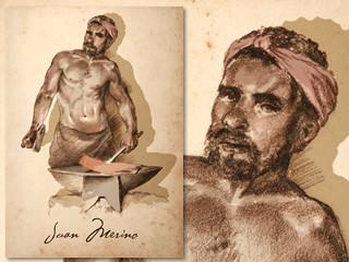 Artist's rendering of Juan Merino